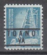 USA Precancel Vorausentwertung Preo, Locals Virginia, Toano 837 - Vereinigte Staaten