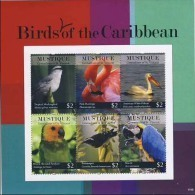 MDB-BK4-451-3 MINT PF/MNH ¤ MUSTIQUE ST VINCENT 2011 6w In Serie ¤ BIRDS OF THE WORLD OISEAUX BIRDS AVES VOGELS VÖGEL - Zangvogels