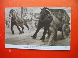C.DE BUSSCHERE-LE CHANTIER.THE YARD.EL SOLAR.IL CANTIERE.DER BAUHOF - Pferde
