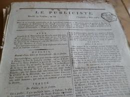 Journal Révolution Le Publiciste 19 Ventose An VI  1798 France, Suisse,Hongrie,, Angleterre, ,.... - Zeitungen - Vor 1800
