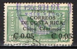 COSTARICA - 1953 - ANTICA UNIVERSITA' DEL COSTARICA CON SOVRASTAMPA - OVERPRINTED - USATO - Costa Rica
