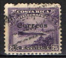 COSTARICA - 1910 - NAVE - SOVRASTAMPATO - OVERPRINTED - USATO - Costa Rica