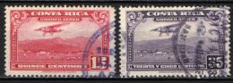 COSTARICA - 1952 - AEREO POSTALE - USATI - Costa Rica