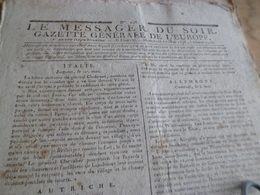 Journal Révolution Le Messager Du Soir Gazette Europe N°238 17/05/1797 France,Italie , Allemagne, Autriche.. - Journaux - Quotidiens