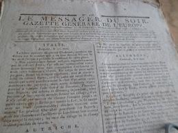 Journal Révolution Le Messager Du Soir Gazette Europe N°238 17/05/1797 France,Italie , Allemagne, Autriche.. - Zeitungen - Vor 1800