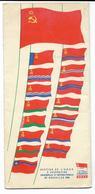 URSS....BELGIQUE...EXPOSITION UNIVERSELLE ET INTERNATIONALE  DE BRUXELLES 1958......DEPLIANT DE 8 PAGES - Documentos Históricos