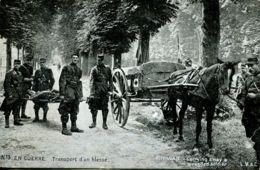 N°65053 -cpa Transport D'un Blessé- Guerre 14/18 - Guerra 1914-18