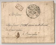 PORT PAYE GRENOBLE Isère Sur LAC 1834 Pour BOURGOIN. - Storia Postale