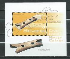 Slovenia 2007 Archaeological Finds.S/S. MNH - Music/Instruments/Archaeology - Slovénie