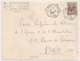 Hexagonal Tireté, LA BATIE DIVISIN Isère. 1966 - Postmark Collection (Covers)