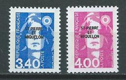 SAINT PIERRE ET MIQUELON 1992 .   N°s 555 Et 556 . Neufs ** (MNH) - St.Pierre & Miquelon