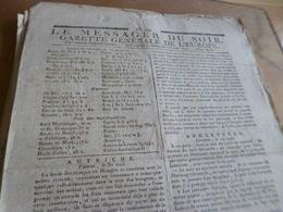 Journal Révolution Le Messager Du Soir Gazette Europe N°269 13/06/1797 France,Angleterre, Allemagne, Autriche.. - Journaux - Quotidiens