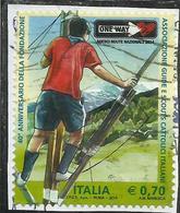 ITALIA REPUBBLICA ITALY REPUBLIC 2014 ASSOCIAZIONE GUIDE E SCOUTS CATTOLICI ITALIANI AGESCI USATO USED OBLITERE' - 6. 1946-.. Repubblica