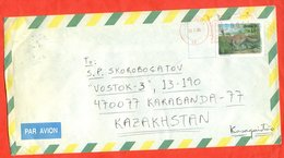 Dinasaurus.Brazil 1995. Envelope Passed The Mail. Airmail. - Prehistorics