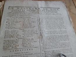 Journal Révolution Le Messager Du Soir Gazette Europe N°245 24/05/1797 France,Angleterre, .. - Journaux - Quotidiens