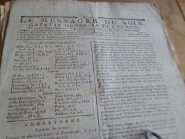 Journal Révolution Le Messager Du Soir Gazette Europe N°245 24/05/1797 France,Angleterre, .. - Zeitungen - Vor 1800