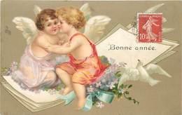 BONNE ANNÉE - Couple D'angelots. - Angels