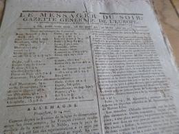 Journal Révolution Le Messager Du Soir Gazette Europe N°246 25/05/1797 France,Angleterre, Allemagne, .. - Zeitungen - Vor 1800
