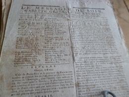 Journal Révolution Le Messager Du Soir Gazette Europe N°247 26/05/1797 France,Angleterre, Allemagne,Espagne, Italie,  .. - Zeitungen - Vor 1800