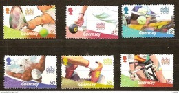 Guernsey Guernesey  2010 Yvertn° 1329-1334 *** MNH Cote 12 Euro Sport Delhi 2010 - Guernsey