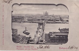 Budapest Panorama Mit Der Basilika Circulée En 1902 - Hongarije