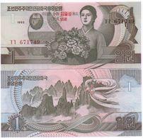 Korea North - 1 Won 1992 / 2007 UNC P. 49 95 Y Comm. Lemberg-Zp - Korea (Nord-)