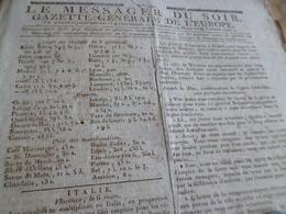 Journal Révolution Le Messager Du Soir Gazette Europe N°199 29/03/1797 France Italie .. - Zeitungen - Vor 1800