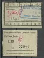 DEUTSCHLAND DDR 1988 Fahrgastschifffahrt Weisse Flotte 2 Fahrkarten Ticket - Europa