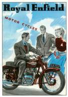 MOTO  ROYAL ENFIELD  Motorcycle  5   (scan Recto-verso)MA1955Bis - Motos