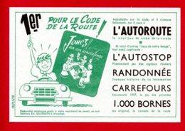 """BUVARD 16 X 10,5 Cm (Réf : C 892)  PROTÈGE-CAHIERS ILLUSTRÉS Pour Le Code De La Route """"L'AUTOROUTE"""" 1er Code De La Route - Automotive"""