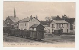 Fondettes.37.Indre Et Loire.La Gare Et L'Eglise. - Fondettes