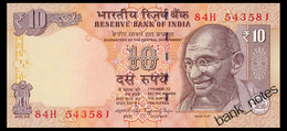 INDIA 10 RUPEES 2014 LETTER A SIGN. RAJAN Pick 102o Unc - Nepal