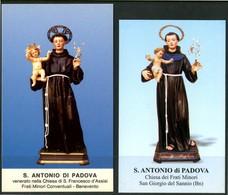 SANTINO - S. Antonio Da Padova - 2 Santini Con Preghiera, Come Da Scansione. - Santini