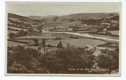 Wales Postcard Rp Valley Of The Wye From Llangurig Unused Rp Valentines - Montgomeryshire