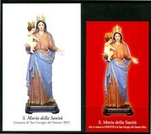 SANTINO - S. Maria Della Sanita' - 2 Santini Con Preghiera, Come Da Scansione. - Santini