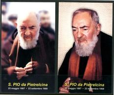 SANTINO - S. Pio Da Pietrelcina - 2 Santini Con Preghiera, Come Da Scansione. - Images Religieuses