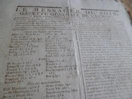 Journal Révolution Le Messager Du Soir Gazette Europe N°216 25/04/1797 France Espagne Autriche Russie - Journaux - Quotidiens