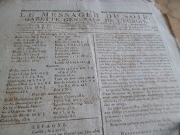 Journal Révolution Le Messager Du Soir Gazette Europe N°219 28/04/1797 France Espagne Allemagne - Zeitungen - Vor 1800
