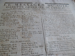 Journal Révolution Le Messager Du Soir Gazette Europe N°220 29/04/1797 France Etats Unis Italie - Zeitungen - Vor 1800