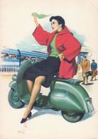 PIAGGIO VESPA, Riproduzione Cartolina D'epoca - Publicité