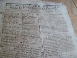 Journal Révolution Le Messager Du Soir Gazette Europe N°225 04/045/1797 France Espagne Prusse Italie - Journaux - Quotidiens