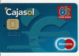 Spain Credit Card Cajasol  Visa Maestro ( This Bank Doesn't Exist Nowadays) - Tarjetas De Crédito (caducidad Min 10 Años)