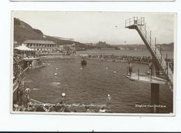 Yorkshire Rppc  Postcard  The Bathing Pool Empire View Posted 1942 Postage Due 2d - Scarborough