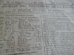 Journal Révolution Des Défenseurs De La Patrie N°1694 An 8, Allemagne Angleterre Etats France Armées  .. - Zeitungen - Vor 1800