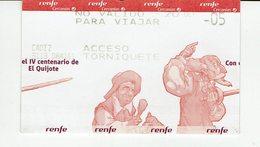 Spain Ticket Train Special IV Centenary D. Quijote ( Cervantes Book) - Train Bahn - Europe