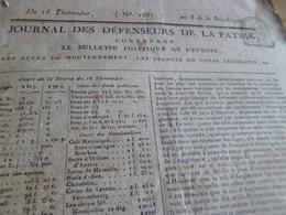 Journal Révolution Des Défenseurs De La Patrie N°1687 An 8, Angleterre Etats Prusse  France Armées  .. - Zeitungen - Vor 1800