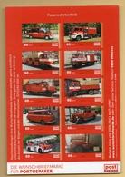 Privatpost -PostModern- Kleinbogen Feuerwehrtechnik Alt Und Neu  (10 Marken), Fire Truck, Brandweer, Pompiers - Feuerwehr