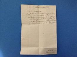 1842 MANOSCRITTO LETTERA PREFILATELICA - Manoscritti