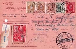 Etterbeek Belgique 1930 Timbres Fiscaux Charles Fouquet Et Cie Bruxelles Paiement Refusé Retour Impayé - Fiscaux