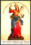 SANTINO - Maria SS. Del Rosario - Santino Con Preghiera, Come Da Scansione. - Santini